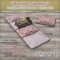 Morning Slumber - Breakfast Pillow Bed Set - Festive Pink