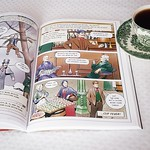 Tea and a chapter of the colourful Rise of the Invincibles, a graphic novel set in Victorian England about the history of Preston North End Football Club
