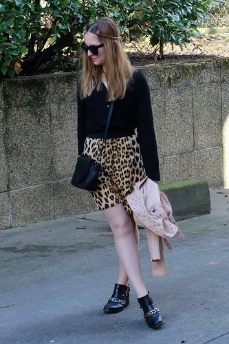 Leopard and skin