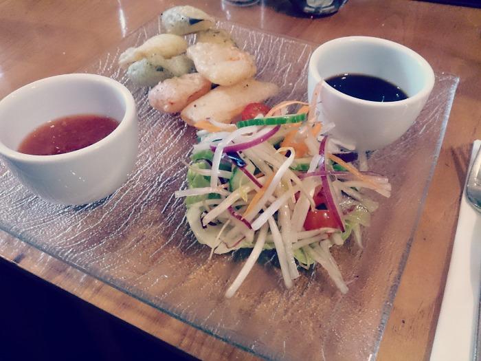 vegetable tempura red onion vegan menu