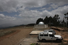 One of two telescopes at the Entoto Observatory and Research Centre  situated in the Entoto Mountains, overlooking the Ethiopian capital, Addis Ababa. Credit: James Jeffrey/IPS