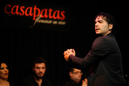 Pedro Córdoba bailando en nuestro tablao. Foto: Martín Guerrero