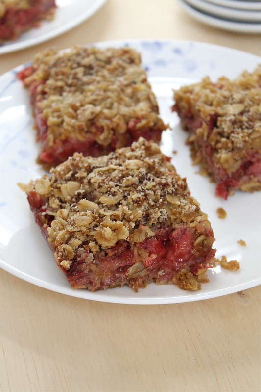 Strawberry Rhubarb Double Crisp - vegan and gluten free