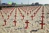Arlington West on Santa Monica Beach Memorial Day weekend - #arlingtonwest #vetsforpeace #iraq #war #iraqwar #memorialday #santamonica #la #ca #beach by Steve Rhodes
