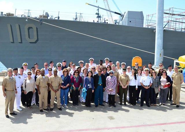 USS William P. Lawrence Hosts Foreign Naval Attaché Corps Spring Tour
