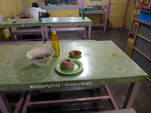 My meal for the night. DDD Habitat Inc. in Lorega, Kitaotao, Bukidnon