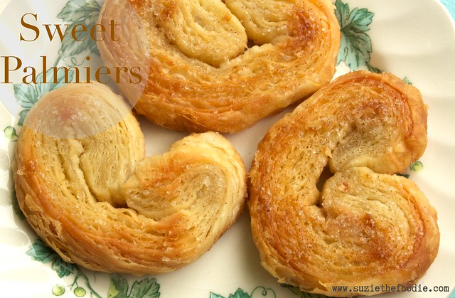 Puff Pastry Sweet Palmiers or Elephant Ears