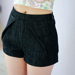 Denim Tap shorts