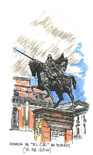 """Estatua ecuestre de """"El Cid"""", en Burgos"""