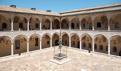 tourist attraction, courtyard, arch, building, monastery, architecture, caravanserai, facade, arcade,