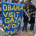 #Gaza protest in #LosAltos - #Obama fundraises in Los Altos Hills #gazaUnderAttack...