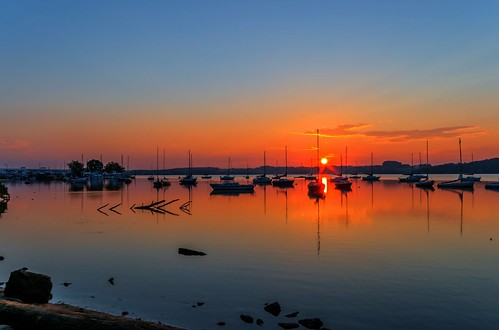 July Sunrise at the Marina HDR by Geoff Livingston