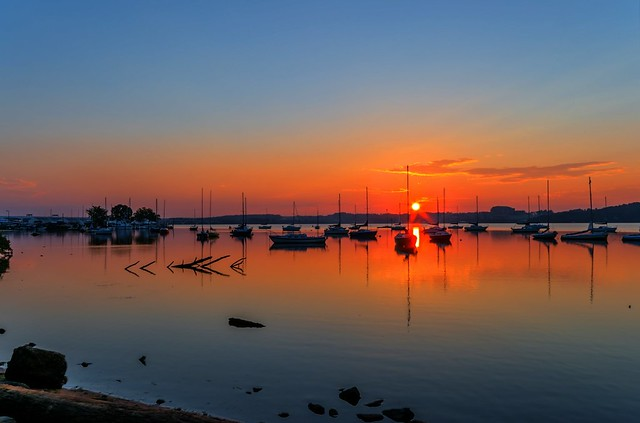July Sunrise at the Marina HDR