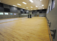 A 1,500-sq.-ft. dance studio is part of the newly constructed addition designed to enhance the experience of audiences and performers at Auburn University's Telfair B. Peet Theatre.