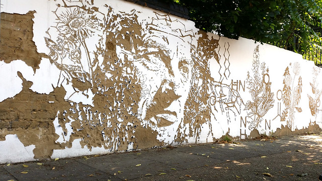 Vhils street art work in Bethnal Green