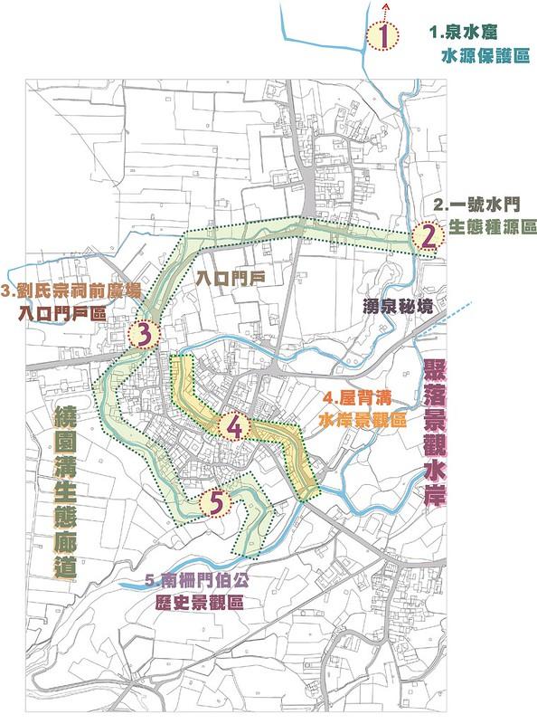 五溝水岸調查製圖。(圖片來源:美濃農村田野學會)