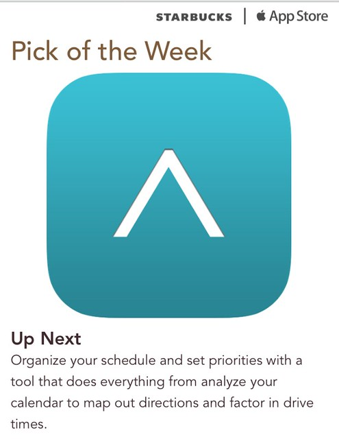 Starbucks iTunes Pick of the Week - Up Next