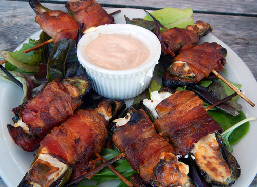 Port Townsend: Bacon-Wrapped Jalapeño Poppers at from Sirens Pub