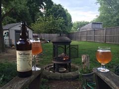 Vault's Centennial Pale Ale by the fire