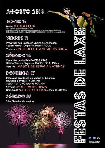 Laxe 2014 - Festas patronais - cartel