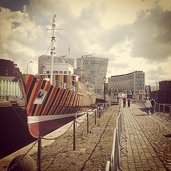 Dazzle Ship, Albert Dock, Liverpool #dazzleship