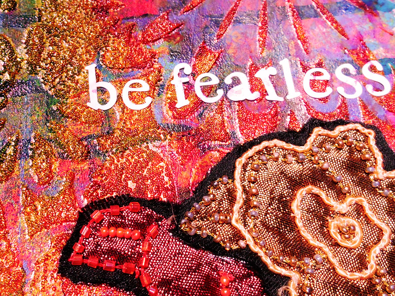 art journal - be fearless macro