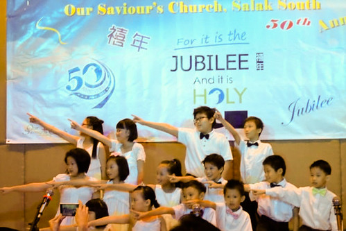 Our Saviour's Church 50th Anniversary - Children performing2