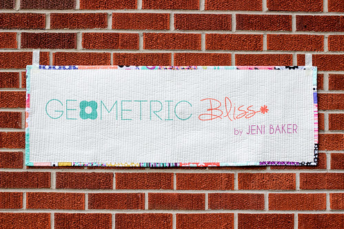 Geometric Bliss Quilted Banner