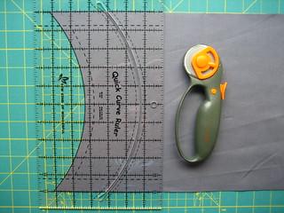Metro Medallion border fabric