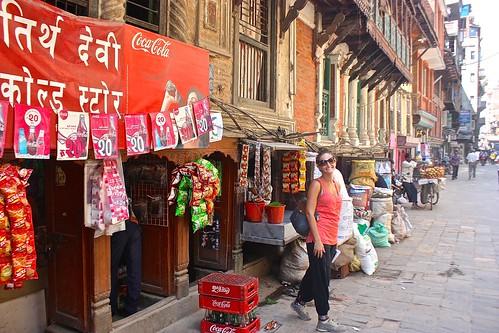Lina on the streets of Kathmandu
