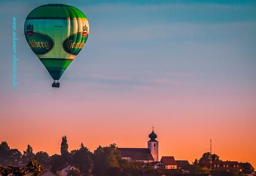 Heißluftballon über Kellberg