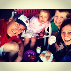 Last Day of Summer! #familyfunday #schoolstartstomorrow #themill #coffee #donuts