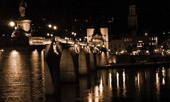 Alte Brücke bei Nacht, Heidelberg