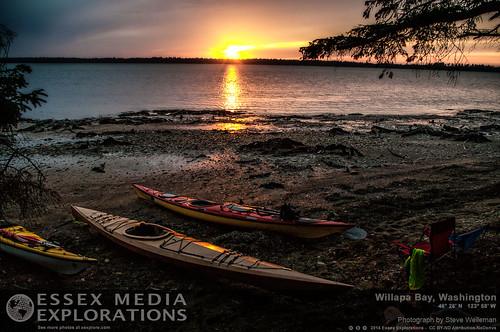 sunset washington unitedstates longbeach willapabay