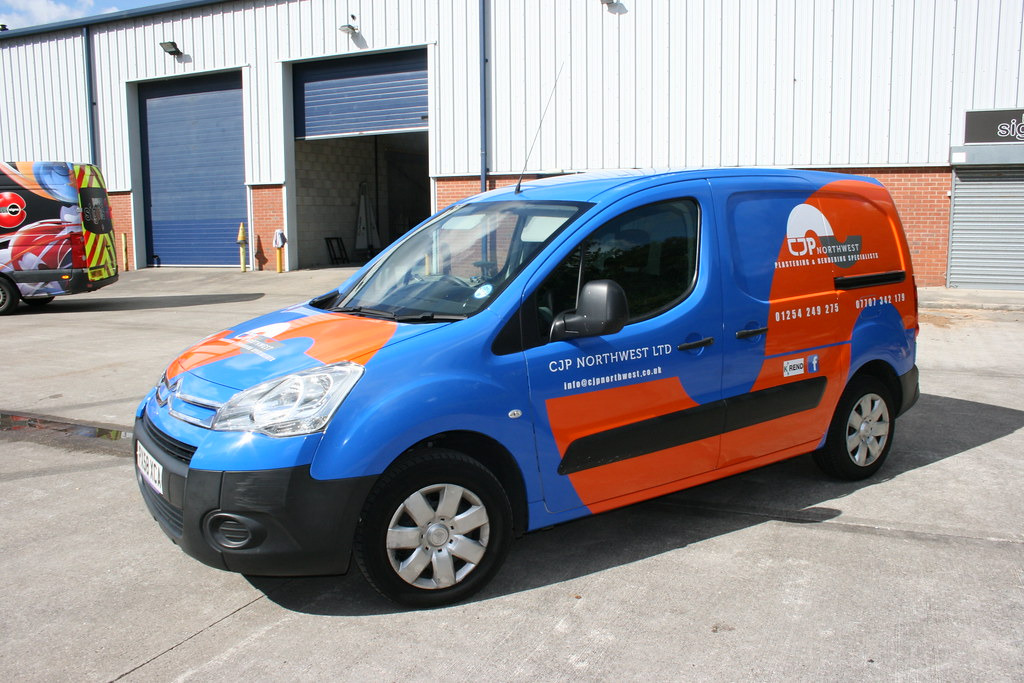 Full colour change wrap (white van)