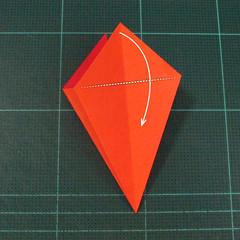 วิธีพับกระดาษเป็นช่อดอกไม้ติดอกเสื้อ (Origami Wedding Chest Flower) 010