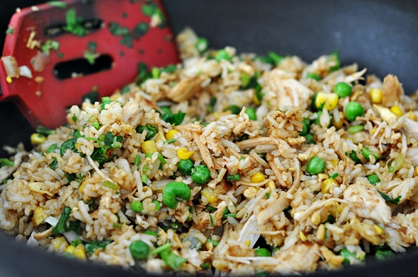 Chicken & Coriander Fried Rice | www.fussfreecooking.com