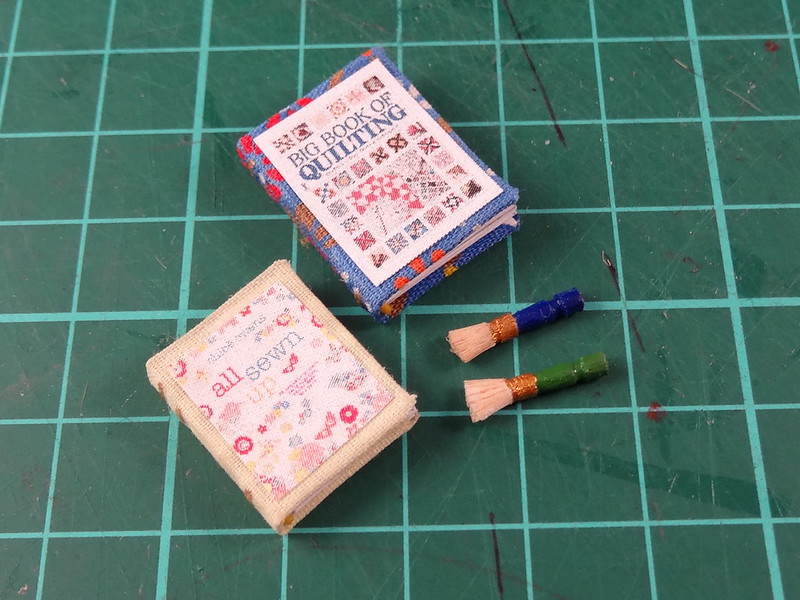 Craft books and brushes