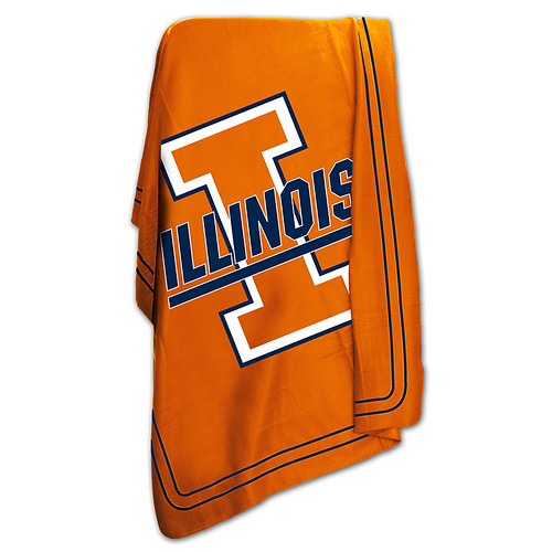 Illinois Fighting Illini NCAA Classic Fleece Throw