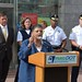 MassDOT posted a photo:	MBTA GM Beverly Scott joins Boston Mayor Marty Walsh to discuss MBTA transportation of 8th grade students.