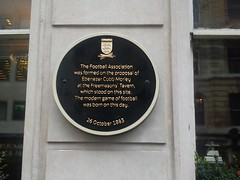 Photo of The Football Association and Ebenezer Cobb Morley black plaque
