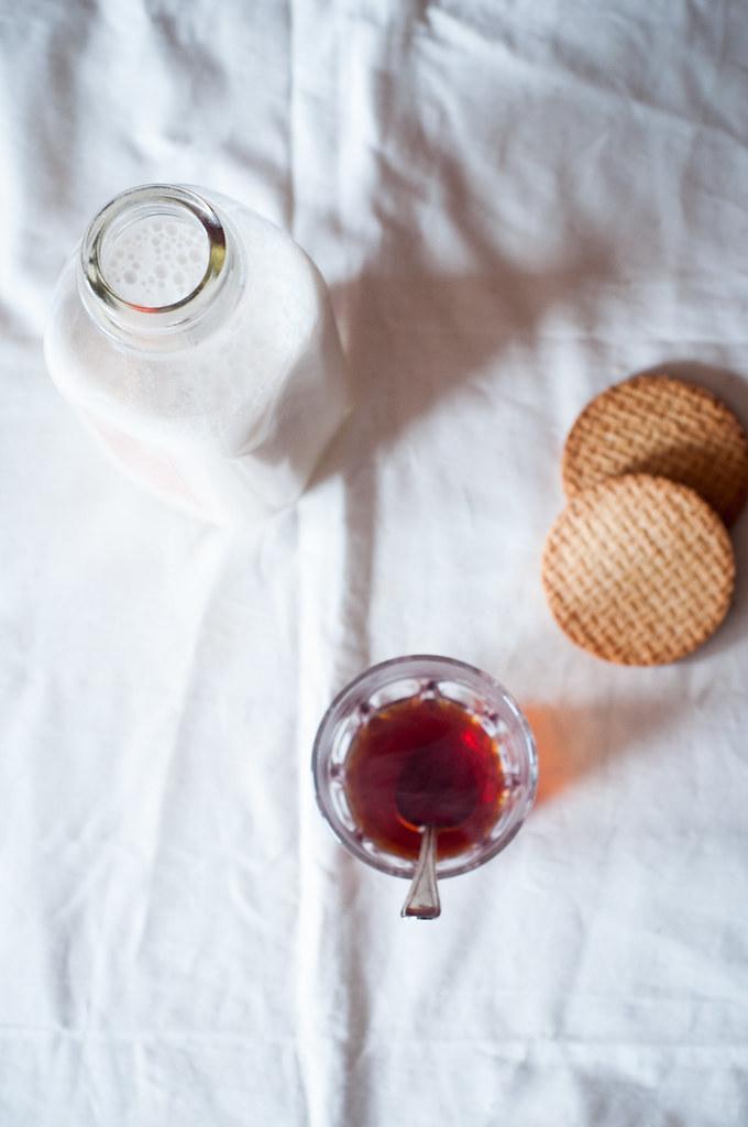 Tea, Almond Milk, Biscuits