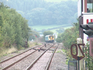 Class 150 approaching Whitland with a train to Fishguard