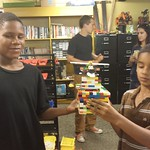 Tyree and Camryn combine their magic to create an awesome Lego creation