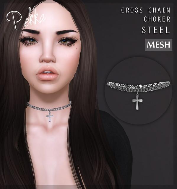 pekka cross chain choker steel