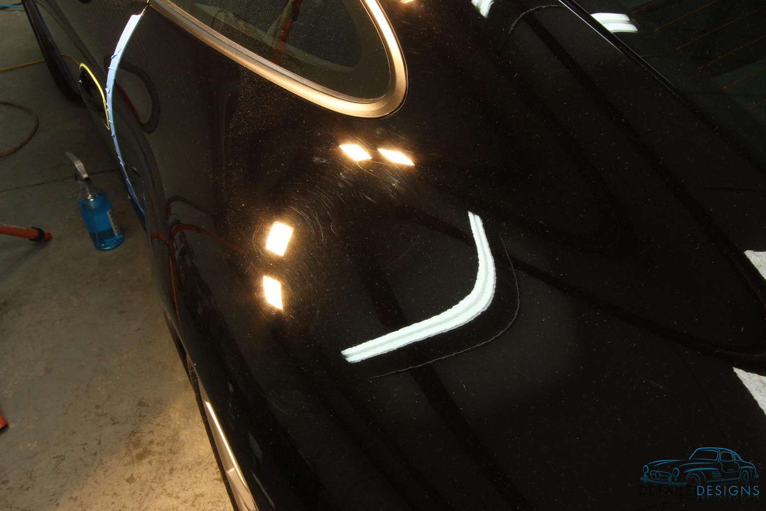Porsche car paint scratches