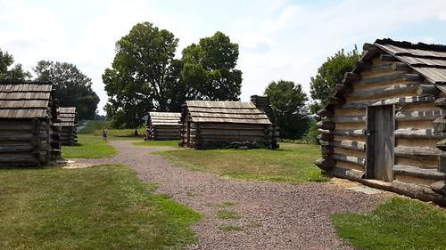 Model encampment at Valley Forge