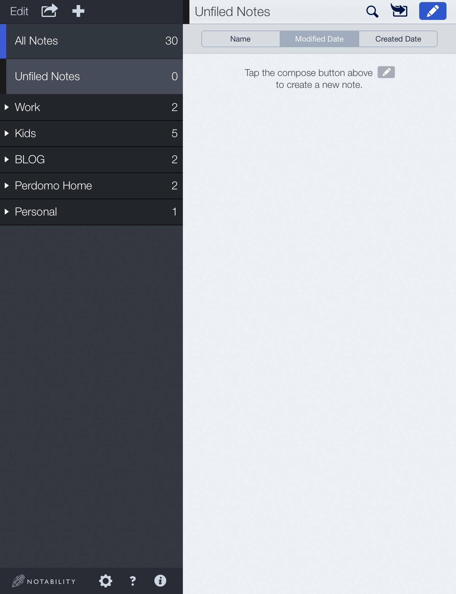 notability screenshot 1