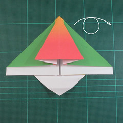 วิธีพับกระดาษเป็นรูปนกแก้ว (Origami Parrot) 014