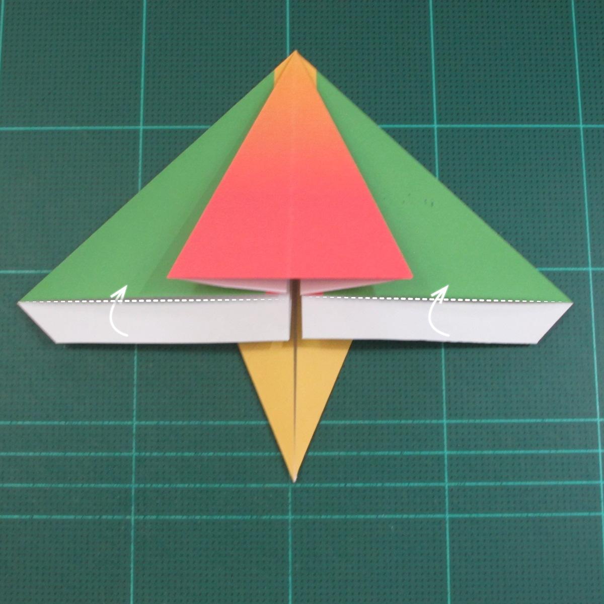 วิธีพับกระดาษเป็นรูปนกแก้ว (Origami Parrot) 018